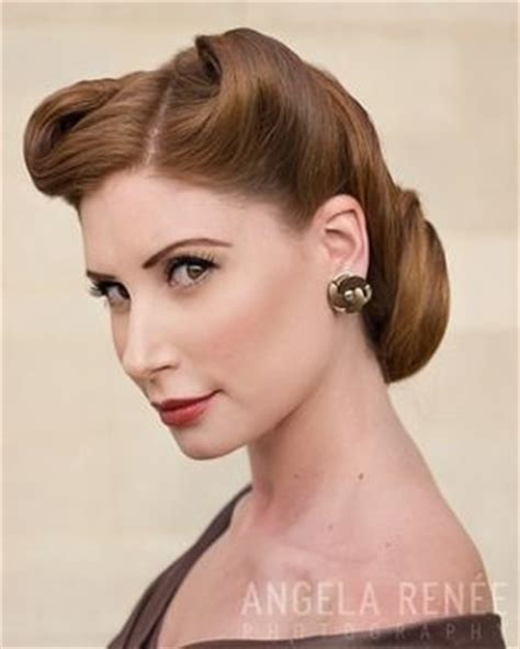 updo hairstyles for women in their 40s 1940 s updo 1940 s hair inspiration pinterest