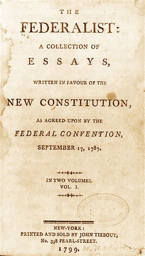 The Federalists Was A Collection Of Essays About by Opinions On The Federalist Papers