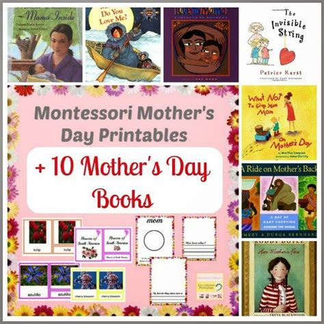 montessori printable books montessori mother s day printables 10 mother s day books