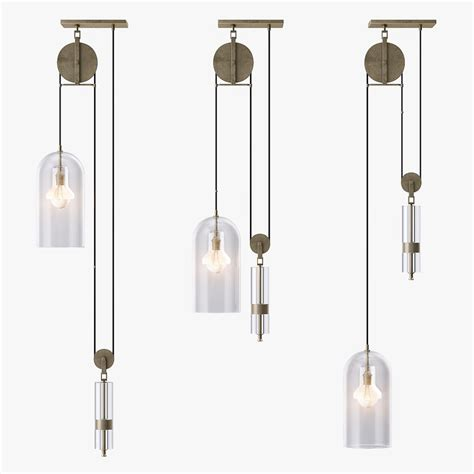pulley pendant light 3d 3ds