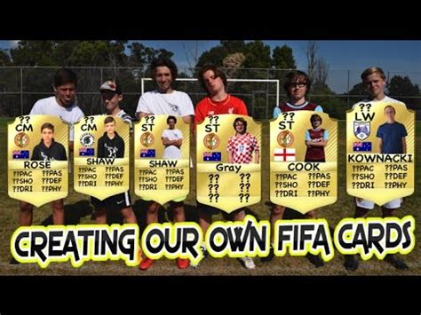 make your own fifa card creating our own fifa cards challenges