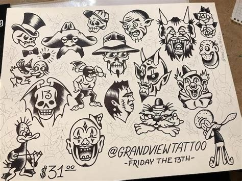 tattoo shops doing friday the 13th 10 shops with friday the 13th flash sheet deals