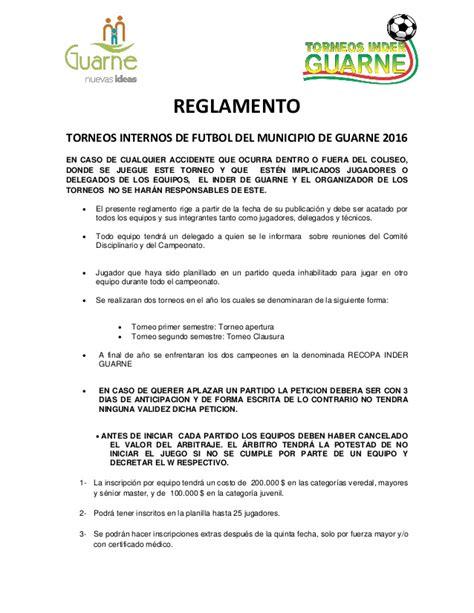 reglamento de futbol ecuador 2016 reglamento f 250 tbol torneos inder guarne 2016