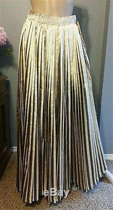 nwt gianfranco ferre italy pleated gold lame tie stripe