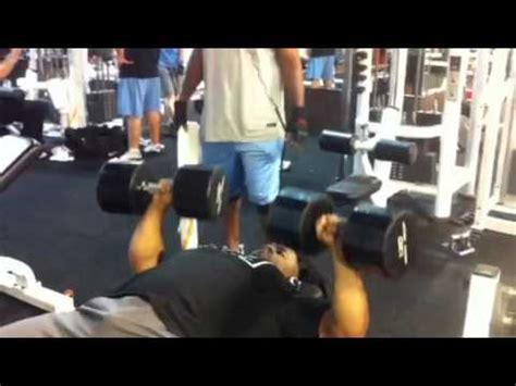 bench press 120 flat bench 120 lb dumbbell press x 14 reps youtube