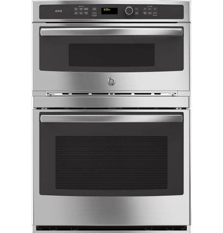 ge modernizes the microwave/wall oven combination with its