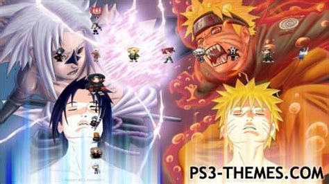 themes do naruto para ps3 ps3 themes 187 chibi naruto