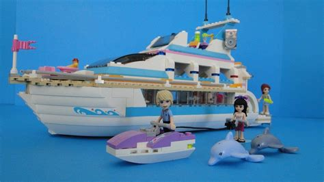 lego boat in motion lego friends 41015 dolphin cruiser yacht stop motion youtube