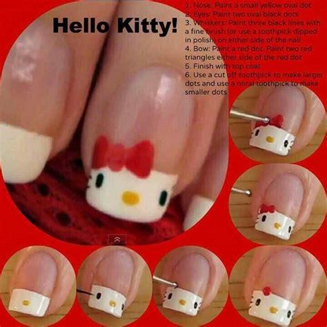tutorial nail art hello kitty 25 best ideas about hello kitty nails on pinterest