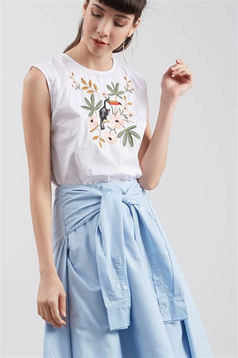 Embroidery White Tops sell wora embroidery tops white blouse berrybenka