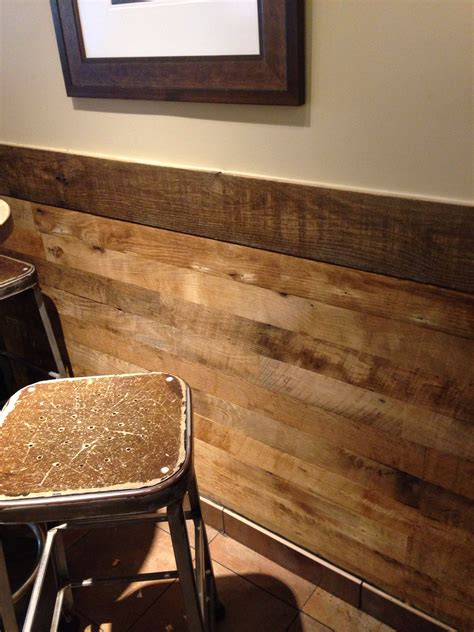 chair rail wood paneling loving this reclaimed wood chair rail rustic and modern