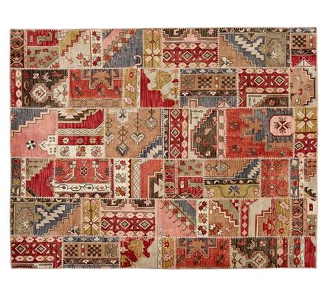patchwork rug ellsworth patchwork rug pottery barn
