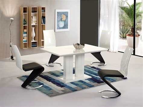 White High Gloss Dining Table And 4 Chairs by Modern White High Gloss Dining Table And 4 Chairs Set