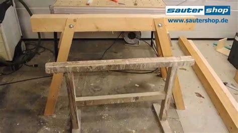arbeitsbock selber bauen stabiler holzbock zimmererbock arbeitsbock bock mit