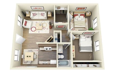 tiny house 2 bedroom 2 bedroom apartment house plans