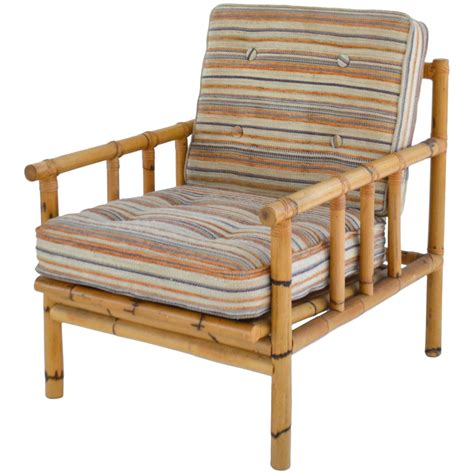 Mid Century Bamboo Club Chair For Sale at 1stdibs
