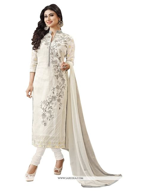 design own clothes uk shop for awesome embroidered work off white churidar