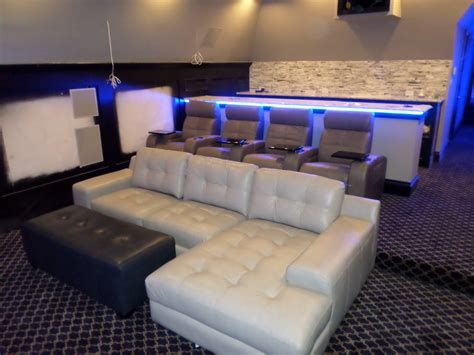 home theater couch seating palliser media sectional with 4 palliser home theater