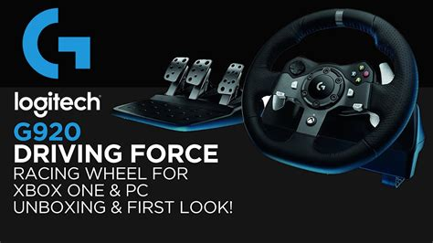 logitech gaming g920 driving racing wheel unboxing