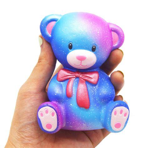 Kiibru Teddy Squishy kiibru squishy galaxy color teddy 10cm rising original packaging collection gift decor