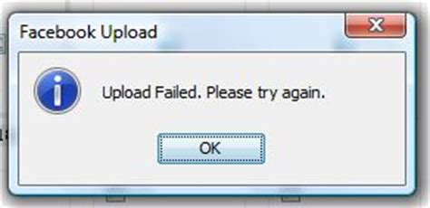 blogger upload failed server rejected facebook upload failed terminally incoherent