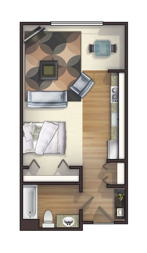 One Bedroom Apartment Designs Exle 1000 Ideas About Studio Apartment Layout On Pinterest Apartment Layout Studio Apartments And