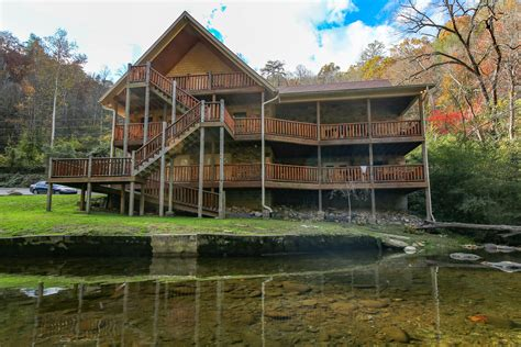 Cabins To Rent In Pigeon Forge Or Gatlinburg Tn by Gatlinburg Cabin Riverside Lodge From 460 00