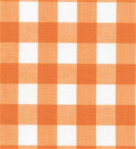 online drapery fabric gingham fabric orange 1 quot online discount drapery
