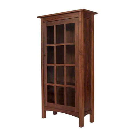 wood bookcases with glass doors vermont made wooden shaker bookcase with glass doors