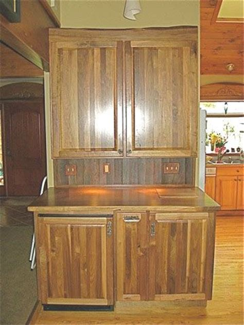 rustic walnut kitchen cabinets roselawnlutheran custom made rustic walnut bar cabinet by five points
