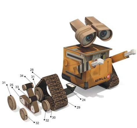 Wall E Papercraft - i really need some talent with a small s