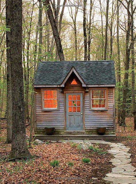 building a small cabin in the woods tiny house in a landscape