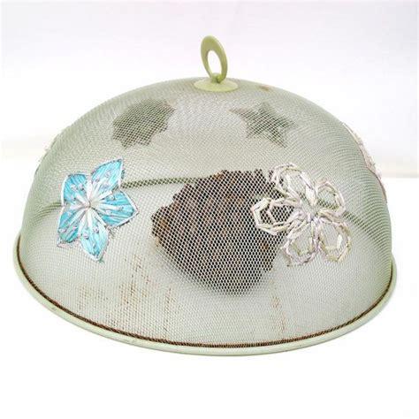 Shoo Metal vintage mesh food cover green shoo fly metal dome cloche