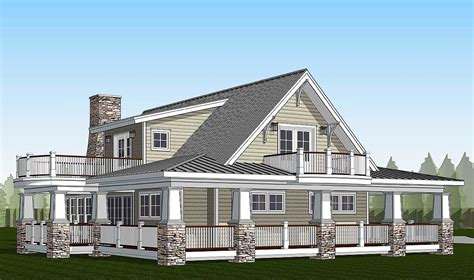 house plans with balcony plan 18286be country home with wraparound porch and 2 balconies wraparound porch wraparound