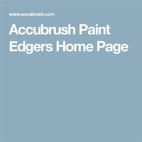accubrush paint edgers coupon
