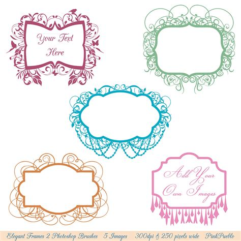 Wedding Border Photoshop Brushes by Frames Photoshop Brushes Chandelier Flourish Frames By