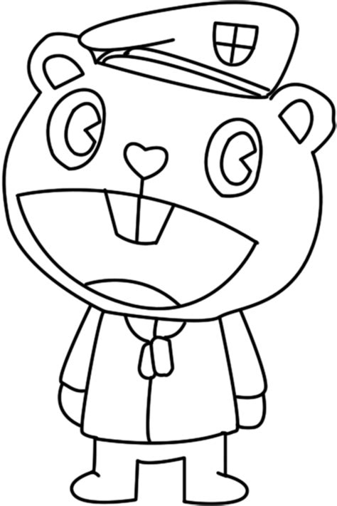Similiar Happy Tree Friends Coloring Pages Keywords