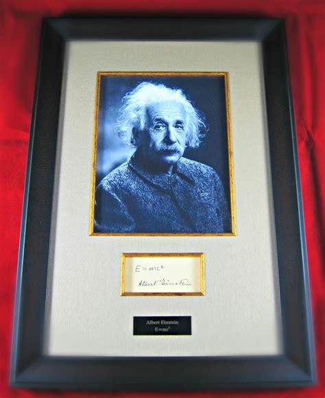 albert einstein framed albert einstein framed cut signature display memorabilia