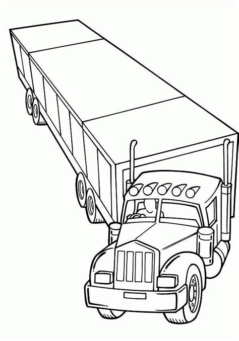 Tractor Trailer Coloring Pages Coloring Home Tractor Trailer Coloring Pictures
