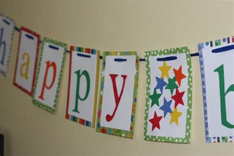 A Paper Banner - happy birthday banner the picky apple