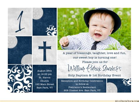 Christening Photo Invitations Photo Baptism Cards Dedication 1st Birthday And Christening Invitation Templates