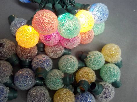 35 colored mini christmas light covers snowball ice ball