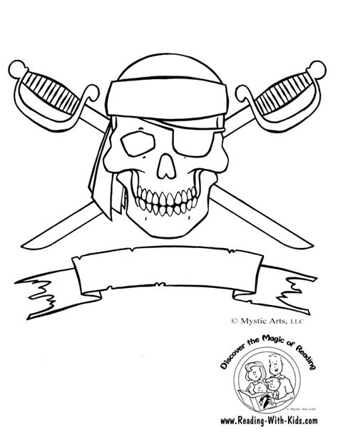 free coloring pages of pirate flag