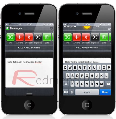 Widsets Bring Widgets To Your Phone by Bring And Easy Note Taking To Ios 5 Notification