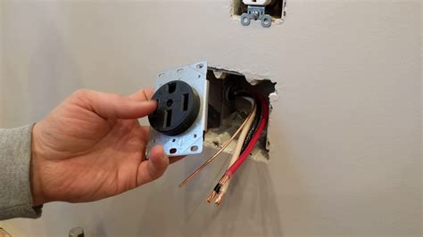 how to install a range receptacle or outlet flush mount