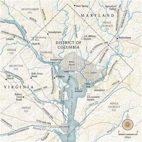 washington dc rivers map maps of washington d c time the washington post