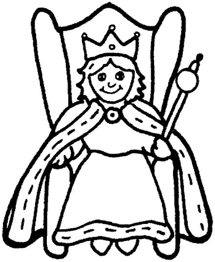 queen coloring pages coloringmates clipart best