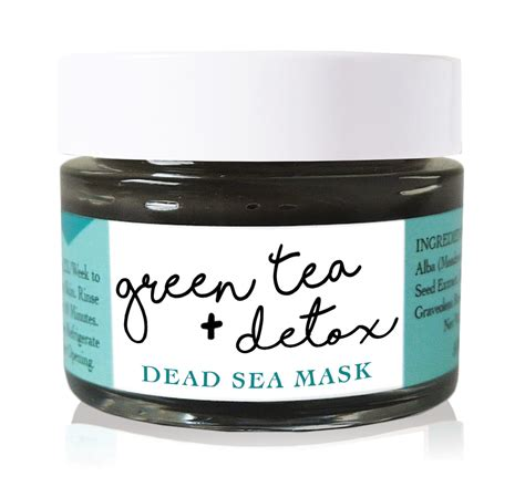 Organic Detox Mask by Enzyme Green Tea Detox Dead Sea Mud Mask Cleanser
