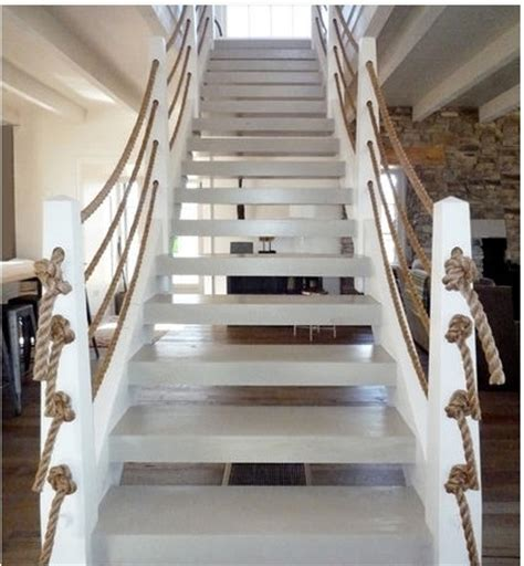 Housse Canapé Interiors by Nautical Rope Staircase Railings Fab Special Rooms