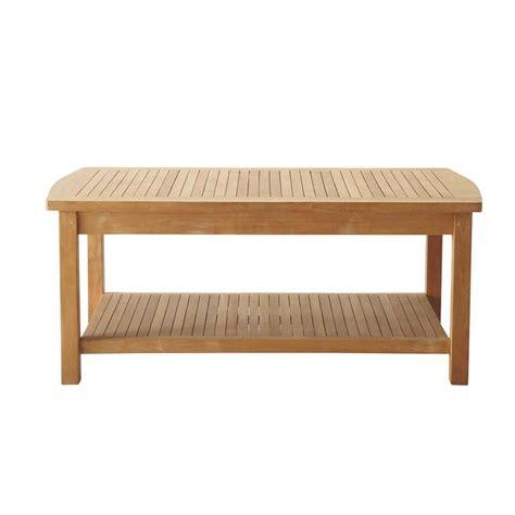 table basse exterieur 65 table basse de jardin bois figari maisons du monde